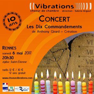 Concert anniversaire des dix ans du choeur de chambre Vibrations