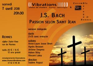 Concert Passion selon Saint Jean – J.S. BACH